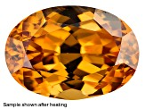 Yellow Zircon Thermochromic 7x5mm Oval .95ct