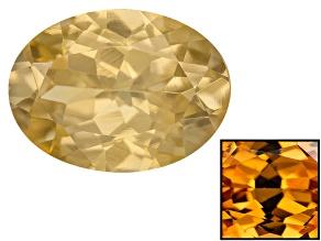 Yellow Zircon Thermochromic 8x6mm Oval 1.25ct