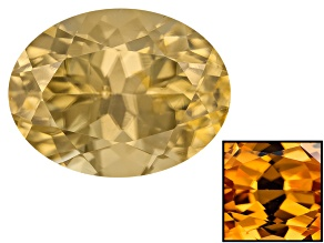 Yellow Zircon Thermochromic 8x6mm Oval 2.00ct