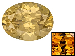 Yellow Zircon Thermochromic 9x7mm Oval 2.25ct