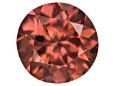 Red Zircon 7mm Round 1.85ct