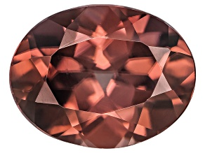 Red Zircon 9x7mm Oval 2.50ct