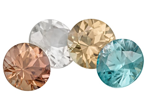 Zircon 5mm Round Set Of 4 2.80ctw