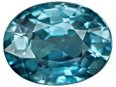 Blue Zircon 10x8mm Oval  3.15ct