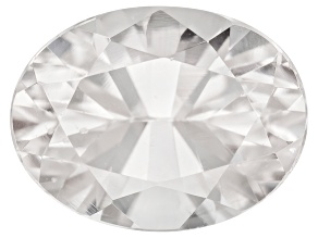 White Zircon 8x6mm Oval 1.50ct Min