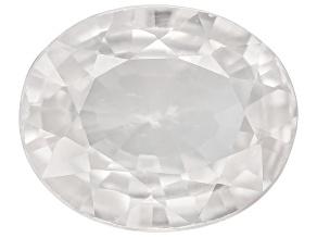 White Zircon 10x8mm Oval Diamond Cut 3.25ct