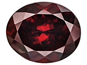 Red Zircon 11.71x9.62mm Oval Mixed Cut 6.46ct