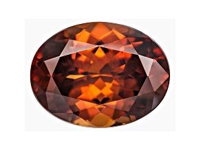Orange Zircon 13x10mm Oval Mixed Cut 7.98ct