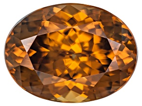 Orange Zircon 12x9mm Oval Mixed Cut 6.91ct