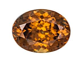 Orange Zircon 12x9mm Oval Mixed Cut 6.91ct