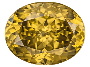 Yellow Zircon Thermochromic 11.78x9.32mm Oval 6.86ct