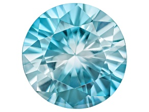 Blue Zircon 8.5mm Round 2.45ct