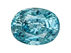 Blue Zircon 9x7mm Oval 2.00ct