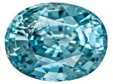 Blue Zircon 9x7mm Oval 2.00ct