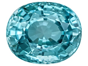 Blue Zircon 11x9mm Oval  5.50ct