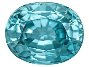 Blue Zircon 10x8mm Oval  4.00ct