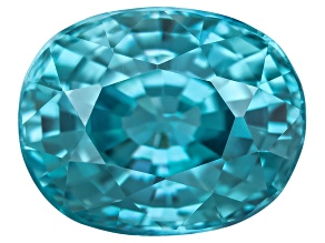 Blue Zircon 10x8mm Oval  4.50ct