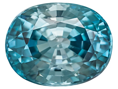 Blue Zircon 9x7mm Oval  3.00ct