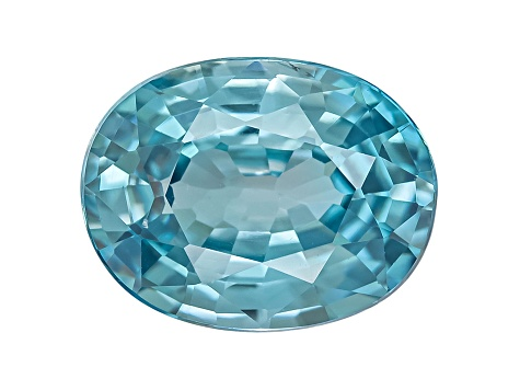 Blue Zircon 9x7mm Oval 2.25ct