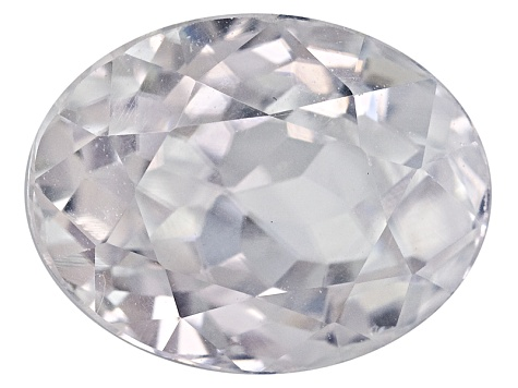 White Zircon 9x7mm Oval 2.50ct