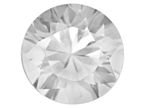 White Zircon 6.5mm Round 1.25ct