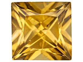 Yellow Zircon 6mm Princess Cut 1.25ct