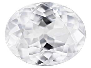 White Zircon 9.5x7.5mm Oval 3.25ct