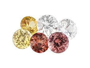 Zircon Round Set of 6 6.01ctw