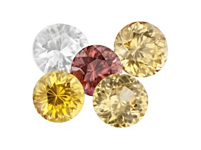 Zircon Round Color Suite of 5 5.07ctw