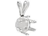 Gemtite Nostalgia™ 7mm Round Sterling Silver 6 Prong Pendant Casting