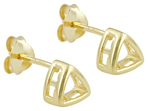Gemgroove Nostalgia™ 4mm Trillion Yellow Gold Plated Sterling Silver Earring Castings