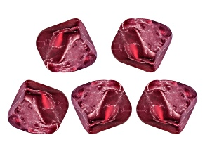 Burma Spinel Min 1.25ctw mm Varies Free Form Rough. Set Of 5.