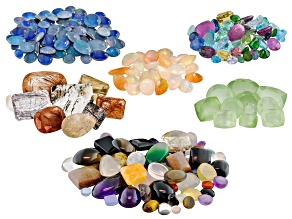 1,000.00ctw Mixed Faceted Gemstones And Cabochons