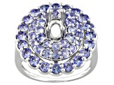 Sterling Silver 6x4mm Oval With Tanzanite Semimount Ring