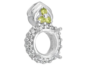 Gemsavvy Trenditions ™ S/S 8mm Rd  .13ctw Peridot And .40ctw Zircon Semi Mount