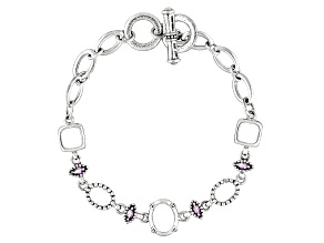 Gemgroove Journeys™Multi Setting With .32ctw Mq Amy Sterling Semi Mount Bracelet
