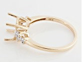 9x7mm Oval 10k Rose Gold Semi Mount Ring .02ctw