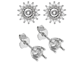 5.5mm Round Earring Semi Mount