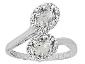White Topaz Sterling Silver Semi Mount Ring .14ctw