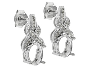 Diamond Silver Semi-Mount .10ctw