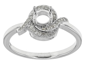 Diamond Silver Semi-Mount Ring .08ctw