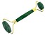 Green Aventurine Facial Roller with Gold Tone Accents