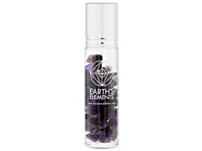 Earth's Elements Spirit Roll-On: Lavender and Sage Essential Oil Blend with Amethyst