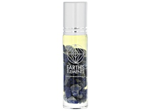 Earth's Elements Focus Roll-On: Peppermint and Lemon Essential Oil Blend with Sodalite