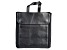 Genuine Leather Fold-Out Jewelry Bag in Black