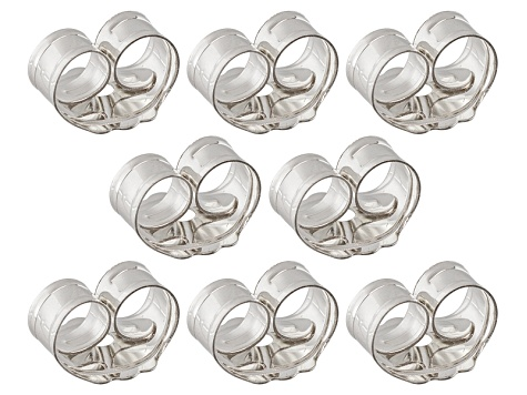 8 PIECE SET OF STERLING SILVER EARRING BACKS WITH ANTI-TARNISH
