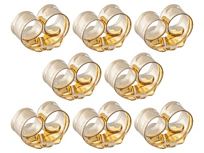8 Piece Set Of 14k Yellow Gold Over Sterling Silver Earring Backs