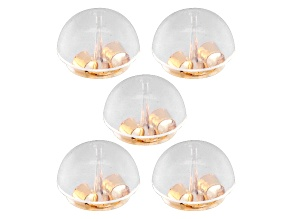 14k Yellow Gold Silicone Bubble Earring Backs 5 Pieces