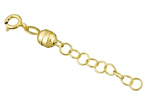 Magnetic Clasp Converter in 14k Yellow Gold With 1 inch Extension Chain