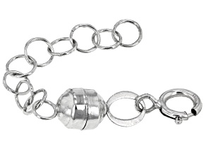Magnetic Clasp Converter in 14k White Gold With 1 inch Extension Chain